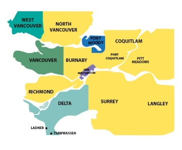 lower mainland police_jurisdiction map